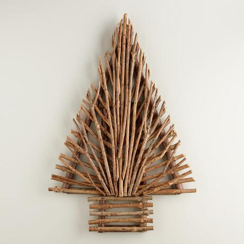 Glittered Twig Tree  Wall Decor
