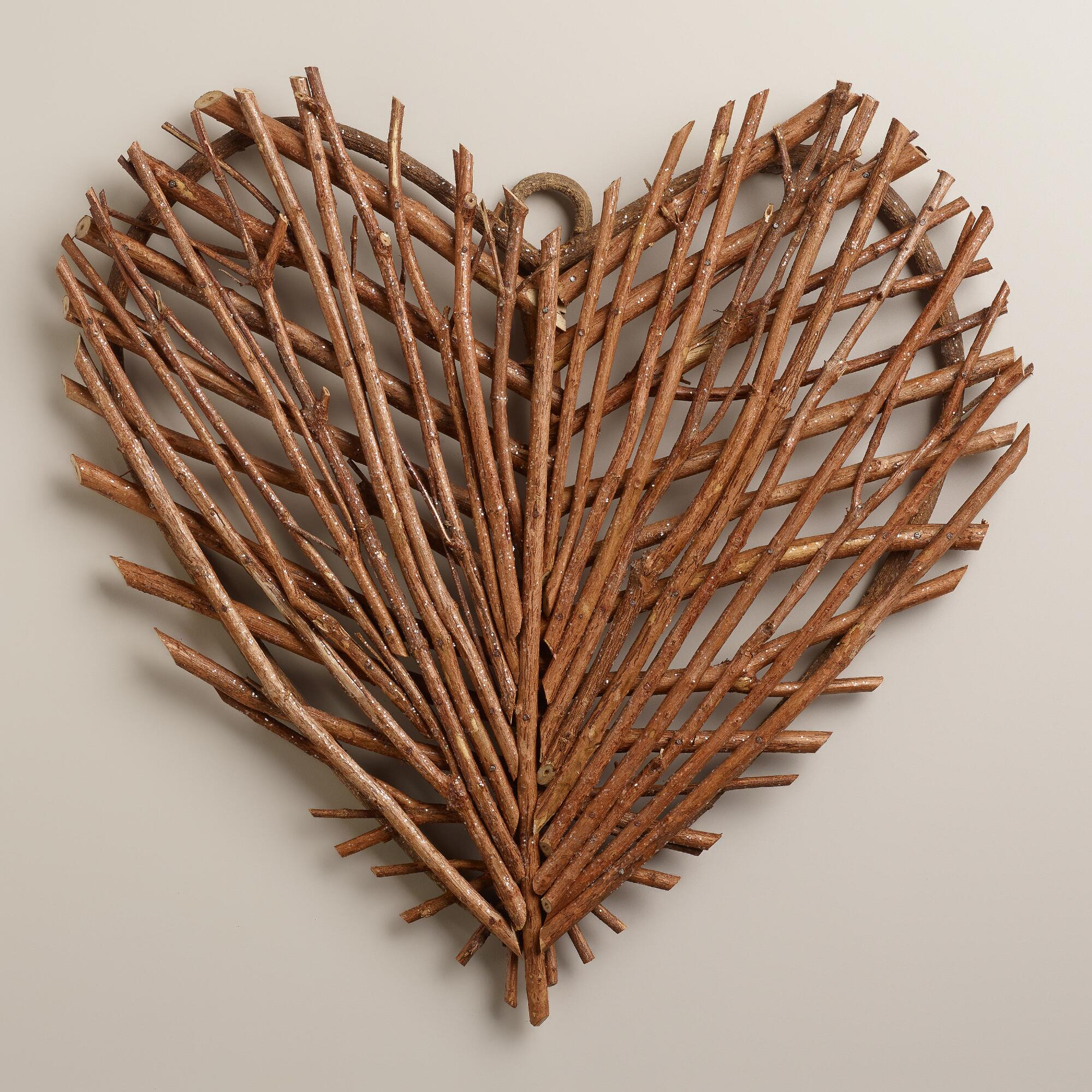 twig heart wall decor world market