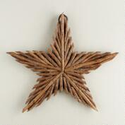 Glittered Twig Star Wall Decor