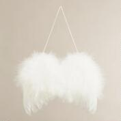 Fluffy Feather Wings Ornament