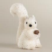 White Sparkling Fabric Squirrel