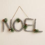 Glittered Twig Noel Wall Decor
