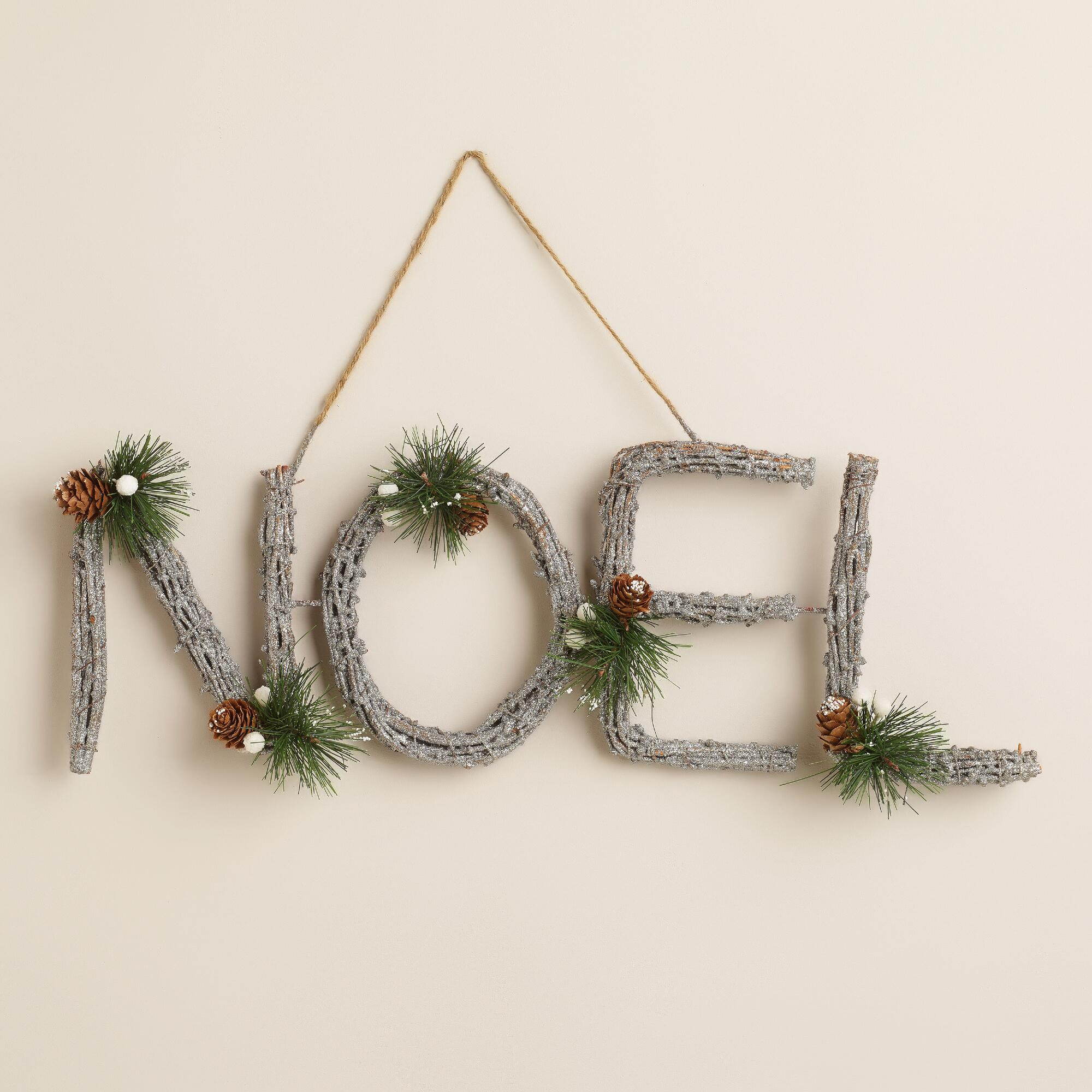 glittered twig noel wall decor world market