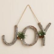 Glittered Twig Joy Wall Decor