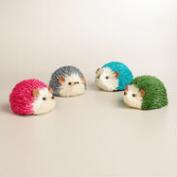 Natural Fiber Hedgehogs, Set of 4
