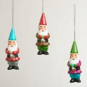 Paper Pulp  Gnome Ornaments,  Set of 3