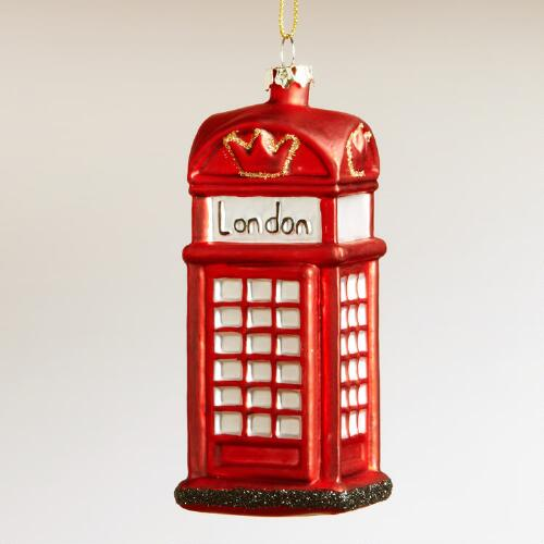 London Phone  Booth Ornament