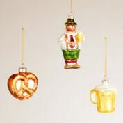 Germany Glass Ornaments,  Set of 3