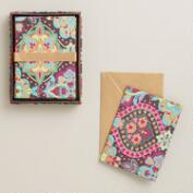 Moroccan Tiles Handmade Notecards, Set of 8