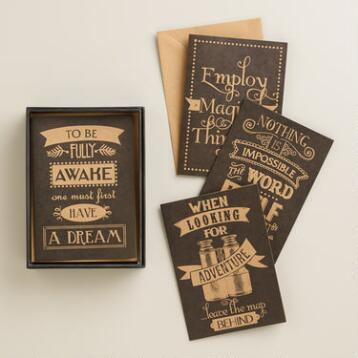 Parisian Steampunk Boxed Notecards, Set of 12