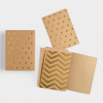 Gold Foil Geo Boxed Notecards, Set of 12