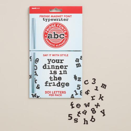 Fridge Fonts Magnetic Alphabet Set