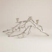 Silver Twig Taper  Candle Centerpiece