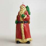 Old-World Santa  Candle