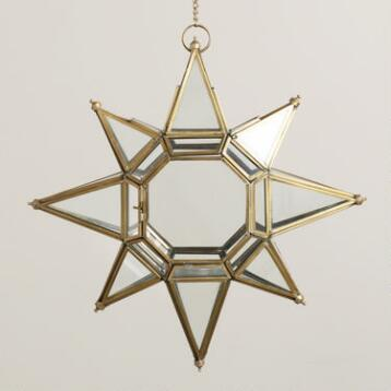 Large Clear Star  Lantern