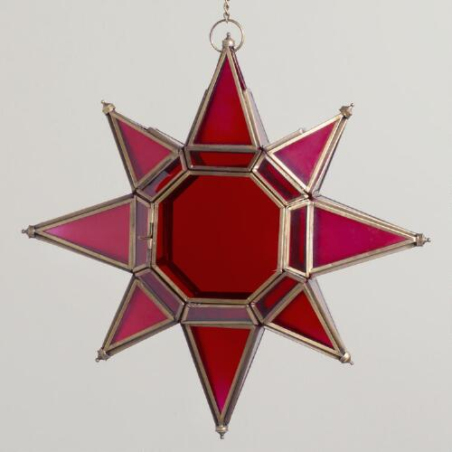 Large Red Star  Lantern