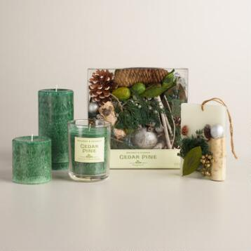 Holiday Classics Cedar Pine Candles