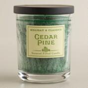 Cedar Pine Filled Jar  Candle
