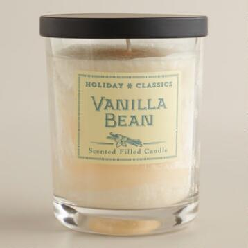 Vanilla Bean Filled Jar  Candle