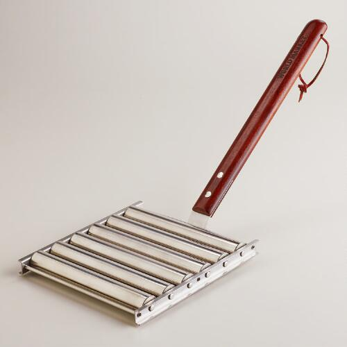 Stainless Steel Hot Dog Roller Rack with Handles