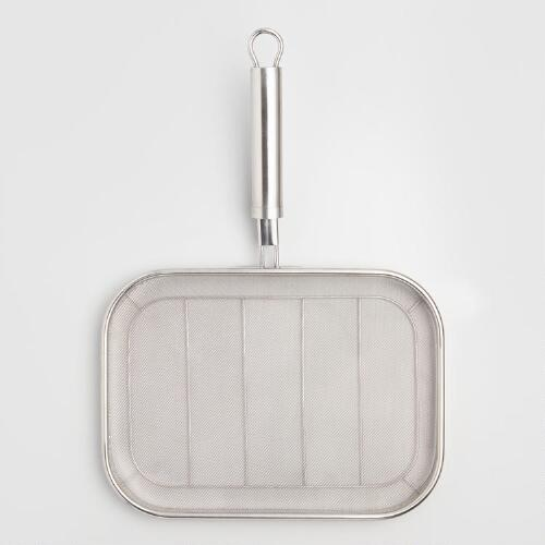Fine Stainless Steel Mesh Grilling Pan