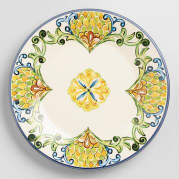 Peacock Salad Plates, Set of 6