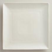 Square Ivory Trilogy Dinner Plates, Set of 4