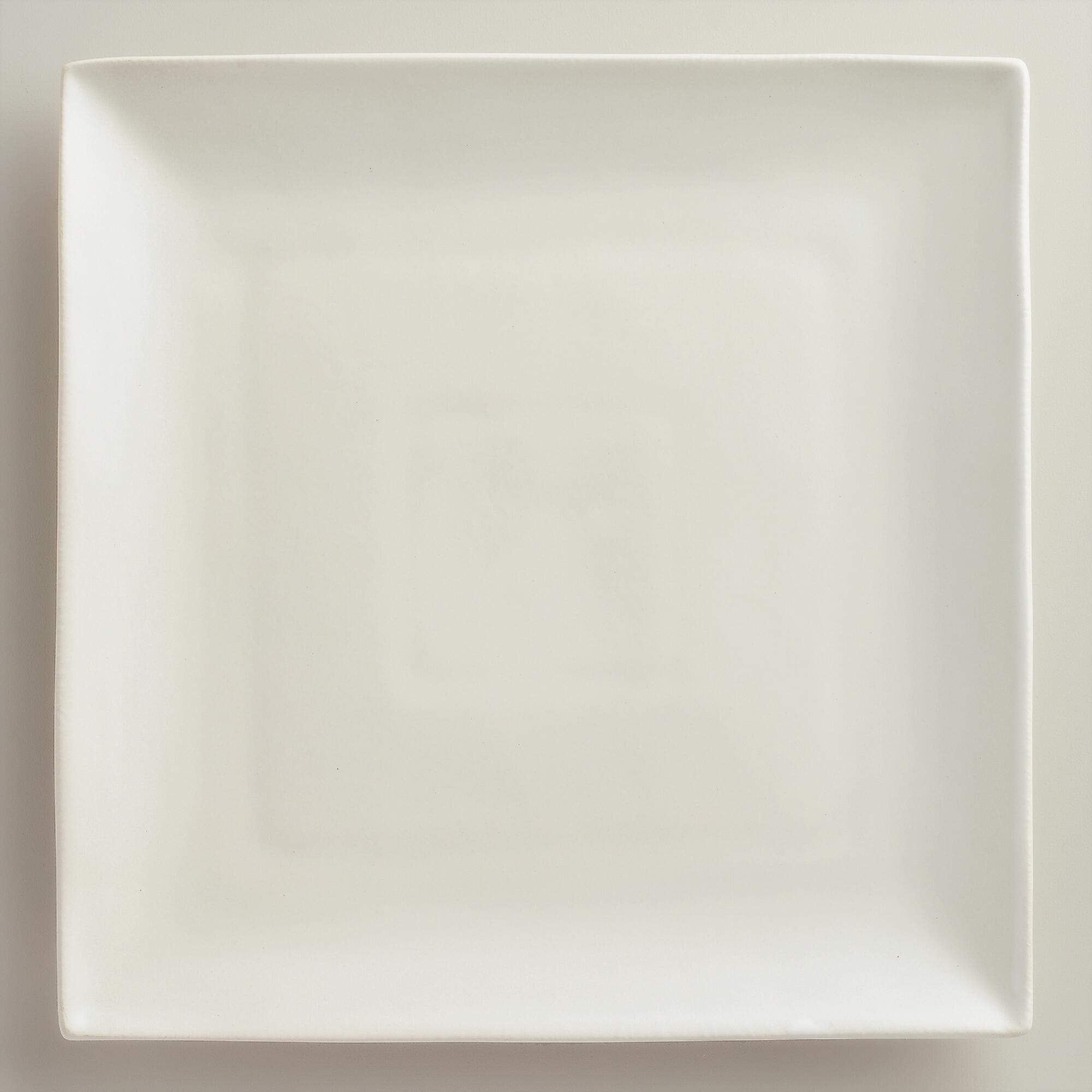 square ivory trilogy dinner plates set of 4 world market