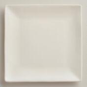 Square Ivory Trilogy Salad Plates, Set of 4