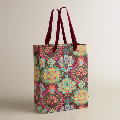 Large Moroccan Tiles Handmade Gift Bag