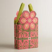 Small Pink Nomad Tiles Die-Cut Handmade Gift Bag