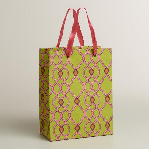 Small Ethel Green Handmade Gift Bag