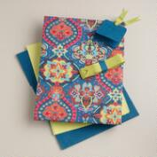 Moroccan Tiles Handmade Fabric Gift Box Kit