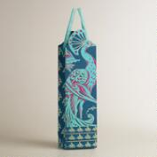 Die-Cut Peacock Handmade Wine Bag