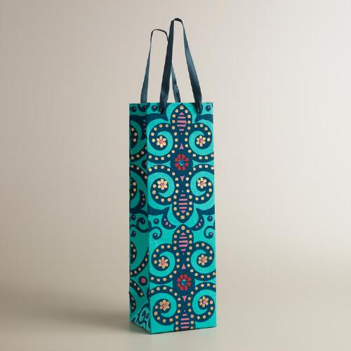 Turkish Geo Handmade Wine Bag
