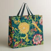 Extra-Large Bird Floral Handmade Gift Bag