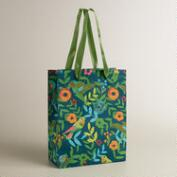 Large Blue Woodland Birds Handmade Gift Bag
