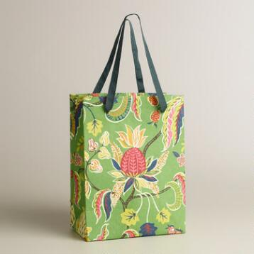 Small Green Henry Floral Handmade Gift Bag
