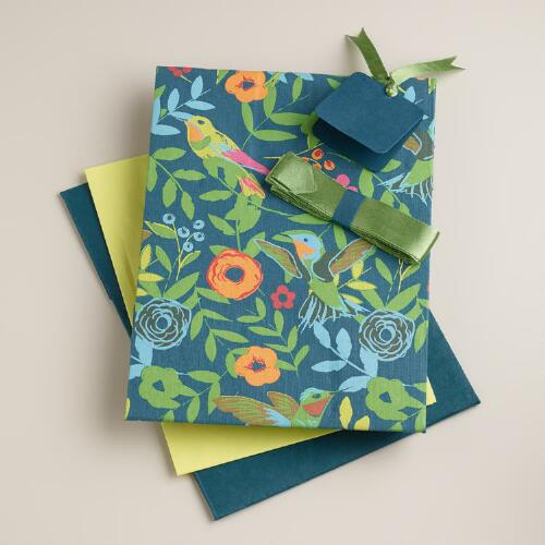 Blue Woodland Birds Handmade Gift Box Kit