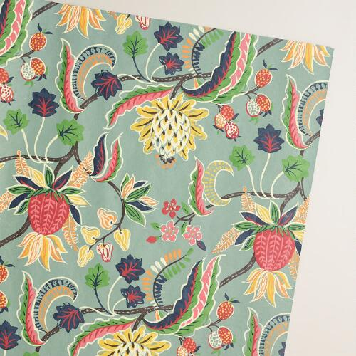 Gray Henry Floral Handmade Giftwrap