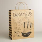 Jumbo 'Dreams and Imagination' Airship Kraft Gift Bag