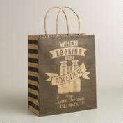 Large 'When Looking for Adventure' Kraft Gift Bag