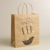 Large 'Magical Thinking' Airship Kraft Gift Bag