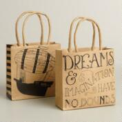 Mini Dreams and Airship Kraft Gift Bags, Set of 2