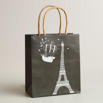 Small Eiffel Tower Airship Kraft Gift Bag