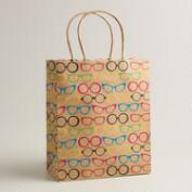 Medium Neon Glasses Kraft Gift Bag