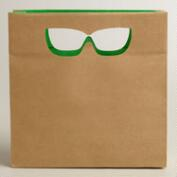 Small Die-Cut Glasses Kraft Gift Bag