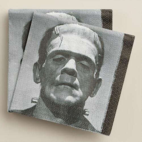 Frankenstein's Monster Beverage Napkins, 20-Count