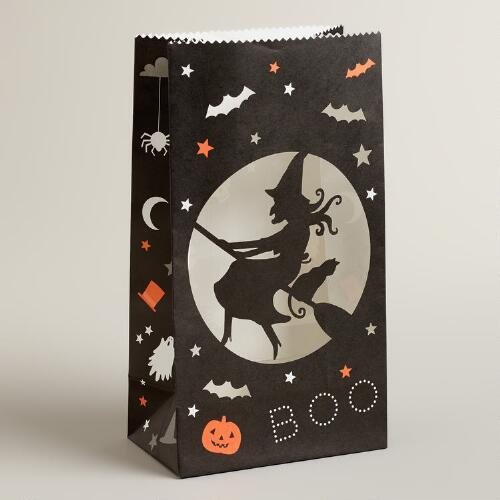 Meri Meri Eek! Skeleton and Witch Luminary Bags, Set of 4