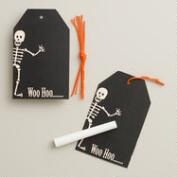 Halloween Chalkboard Gift Tags, Set of 6